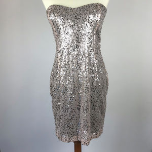 Windsor Sequin Strapless Dress